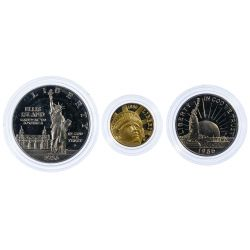 View 2: 1986 Liberty Gold and Silver Coin Set
