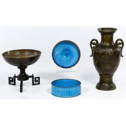 View 2: Asian Decorative Metal Object Assortment