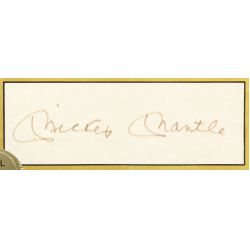 View 3: Mickey Mantle Signature, Baseball and Football Card Assortment