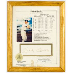 View 2: Mickey Mantle Signature, Baseball and Football Card Assortment
