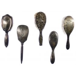 View 3: Sterling Silver Vanity Handled Brush Assortment
