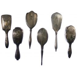 View 3: Sterling Silver and European Silver Vanity Handled Brush Assortment