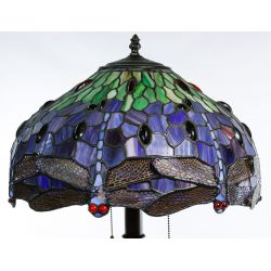 "View 4: Stained Glass Style ""Dragonfly"" Shade Table Lamp"