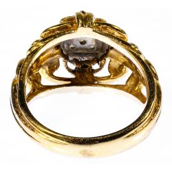 View 3: 14k White and Yellow Gold and Diamond Ring