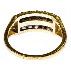 View 3: 14k Gold and Diamond Ring