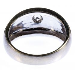 View 2: 14k White Gold and Diamond Ring