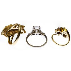 View 2: 14k Gold and Gemstone Ring Assortment