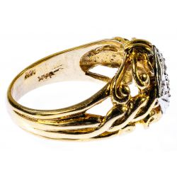 View 2: 14k White and Yellow Gold and Diamond Ring