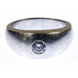View 2: C. D. Peacock Platinum and Diamond Ring