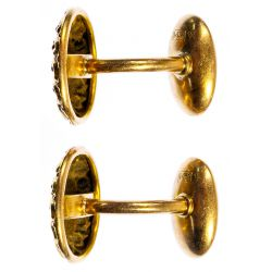 View 2: 14k Gold Cuff Links