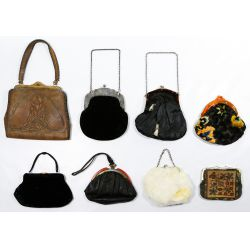 View 2: Leather, Fabric and Fur Purse Assortment