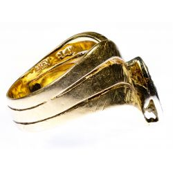 View 2: 14k Gold and Diamond Ring