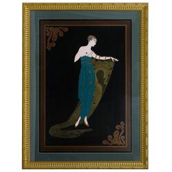 "View 2: Romain de Tirtoff (Erte) (Russian, 1892-1990) ""Emerald Night"" Print"