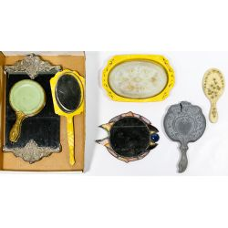 View 3: Compact, Vanity Mirror and Brush Assortment