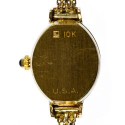 View 3: Geneve 10k Gold Wrist Watch on 14k Gold Band