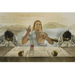 """View 2: Salvador Dali (Spanish, 1904-1989) """"The Sacrament of the Last Supper"""" Lithograph"""