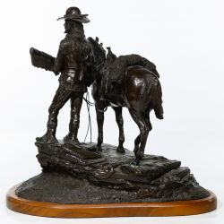 "View 2: Jack Riley (American, 20th Century) ""The Pathfinder"" Bronze Statue"