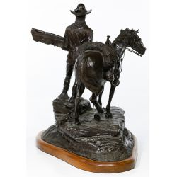 "View 3: Jack Riley (American, 20th Century) ""The Pathfinder"" Bronze Statue"