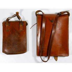 View 2: World War II German Leather Document Map Cases