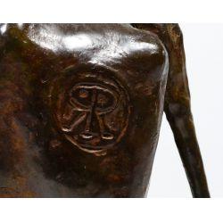 """View 6: Melvin C Warren (American 1920-1995) """"Red River"""" Bronze"""