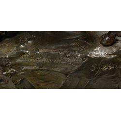 """View 5: Melvin C Warren (American 1920-1995) """"Red River"""" Bronze"""