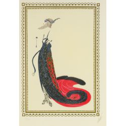"View 2: Romain de Tirtoff (Erte) (Russian, 1892-1990) ""Black Magic"" Serigraph"