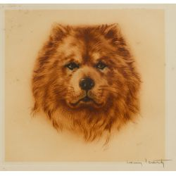 """View 3: Louis Icart (French, 1888–1950) Lithographs """"Mon Chien"""" and """"Curly Locks"""" Lithographs"""