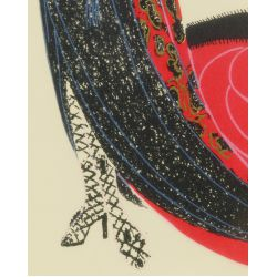 "View 3: Romain de Tirtoff (Erte) (Russian, 1892-1990) ""Black Magic"" Serigraph"