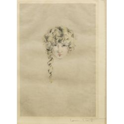 """View 2: Louis Icart (French, 1888–1950) Lithographs """"Mon Chien"""" and """"Curly Locks"""" Lithographs"""