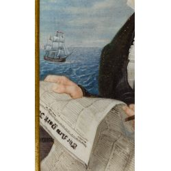 View 4: Unknown Artist (European, 19th Century) Oil on Board