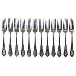 """View 6: Wallace """"Rose Point"""" Sterling Silver Flatware Service"""