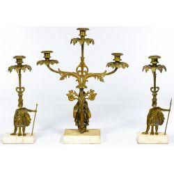 View 2: Brass Girandole Candleabra Set