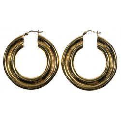 View 2: 14k Gold Hoop Pierced Earrings