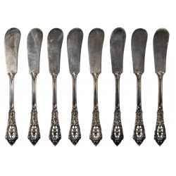 """View 4: Wallace """"Rose Point"""" Sterling Silver Flatware Service"""