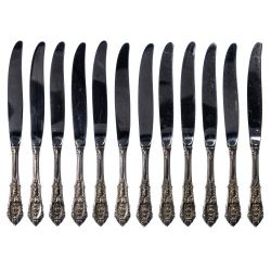 """View 5: Wallace """"Rose Point"""" Sterling Silver Flatware Service"""