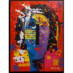 "View 3: Vladimir Cora (American / Mexican, b.1951) ""Los Mirones"" Oil on Canvas on Board"