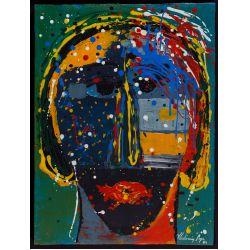 "View 4: Vladimir Cora (American / Mexican, b.1951) ""Los Mirones"" Oil on Canvas on Board"