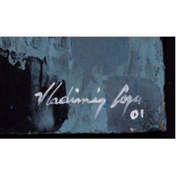 "View 6: Vladimir Cora (American / Mexican, b.1951) ""Los Mirones"" Oil on Canvas on Board"