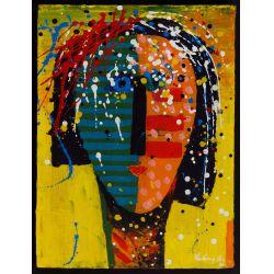 "View 5: Vladimir Cora (American / Mexican, b.1951) ""Los Mirones"" Oil on Canvas on Board"