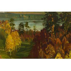 View 2: Unknown Artist (Russian, 20th Century) Oil on Masonite