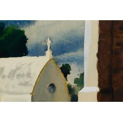 View 3: Mark Coomer (American, 1914-2004) Watercolor on Paper