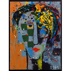 "View 2: Vladimir Cora (American / Mexican, b.1951) ""Los Mirones"" Oil on Canvas on Board"