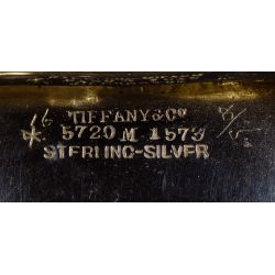 "View 5: Tiffany & Co. ""Chrysanthemum"" Sterling Silver Master Salts"