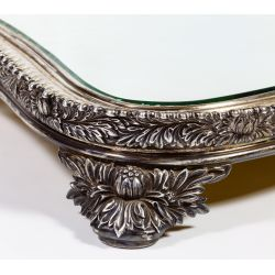 """View 2: Tiffany & Co. """"Chrysanthemum"""" Sterling Silver Mirrored Plateau"""