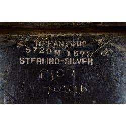 "View 6: Tiffany & Co. ""Chrysanthemum"" Sterling Silver Master Salts"