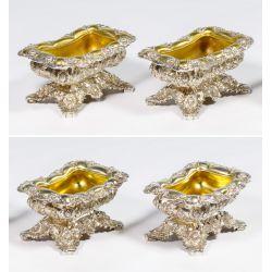 "View 2: Tiffany & Co. ""Chrysanthemum"" Sterling Silver Master Salts"