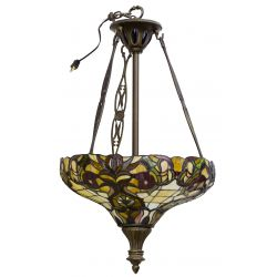 View 2: Stained Glass Style Ceiling Fixture and Table Lamp