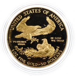 View 2: 1986-W $50 Gold Proof American Eagle