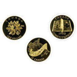 View 2: Canada: $100 Gold Proof Coins
