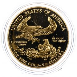 View 2: 1987-W $50 Proof Gold American Eagle